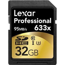 Lexar SDHC Card             32GB 633x Professional Class 10 UHS-I