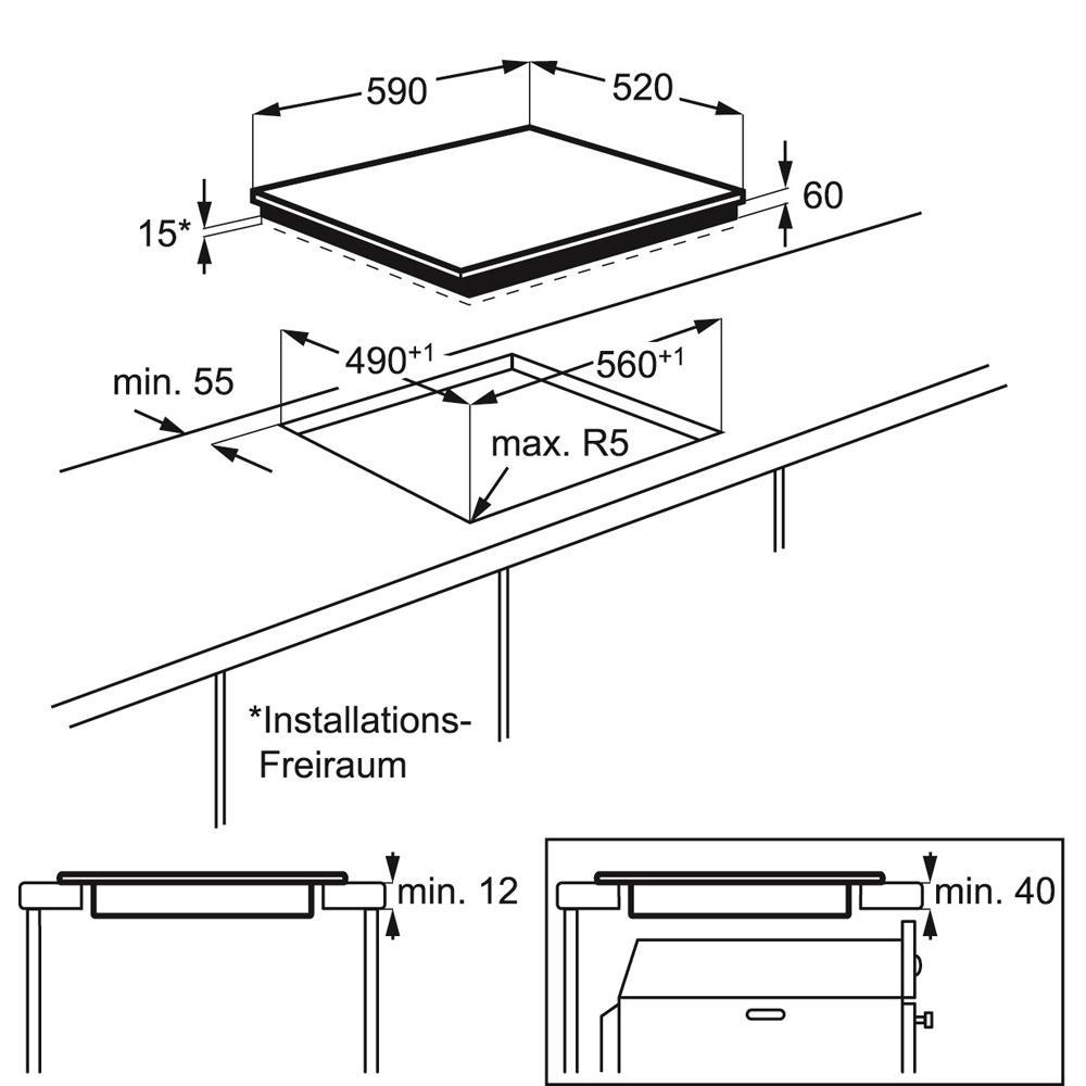 AEG inductiekookplaat (inbouw) HK604200IB
