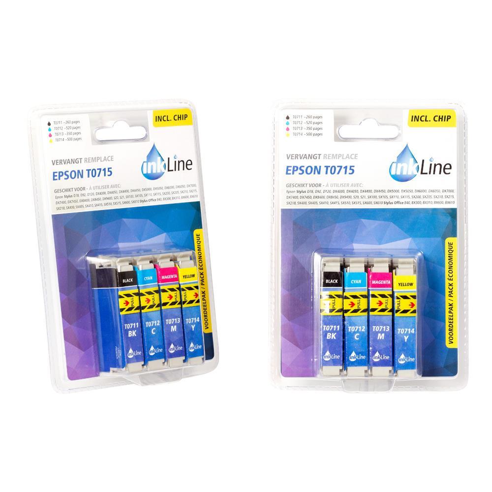 Inkline cartridge INE0715 Epson T0715 (4-Pack)