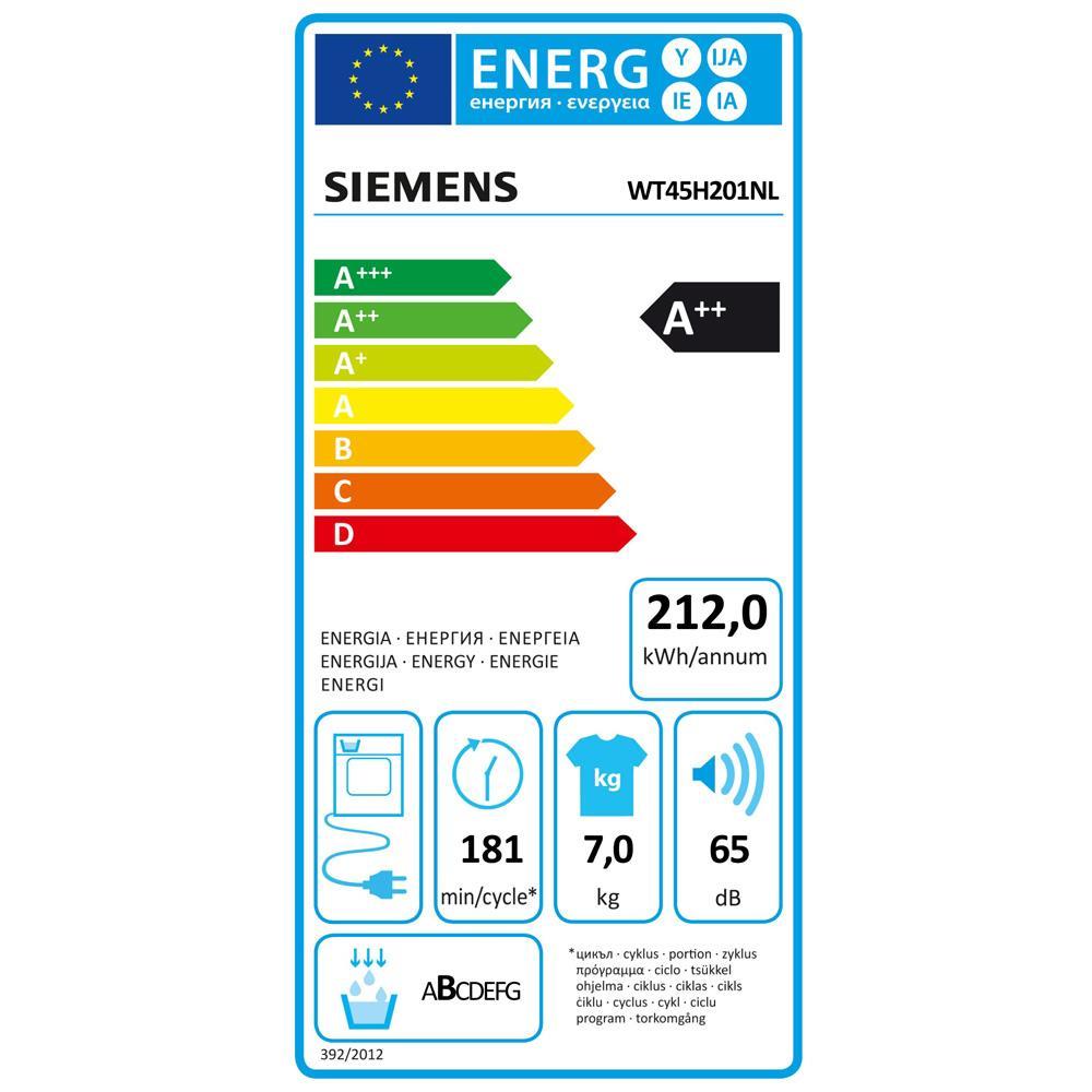 Siemens warmtepompdroger WT45H201NL