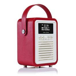 ViewQuest Retro Mini - Bluetooth Spealer met DAB+ radio - Rood