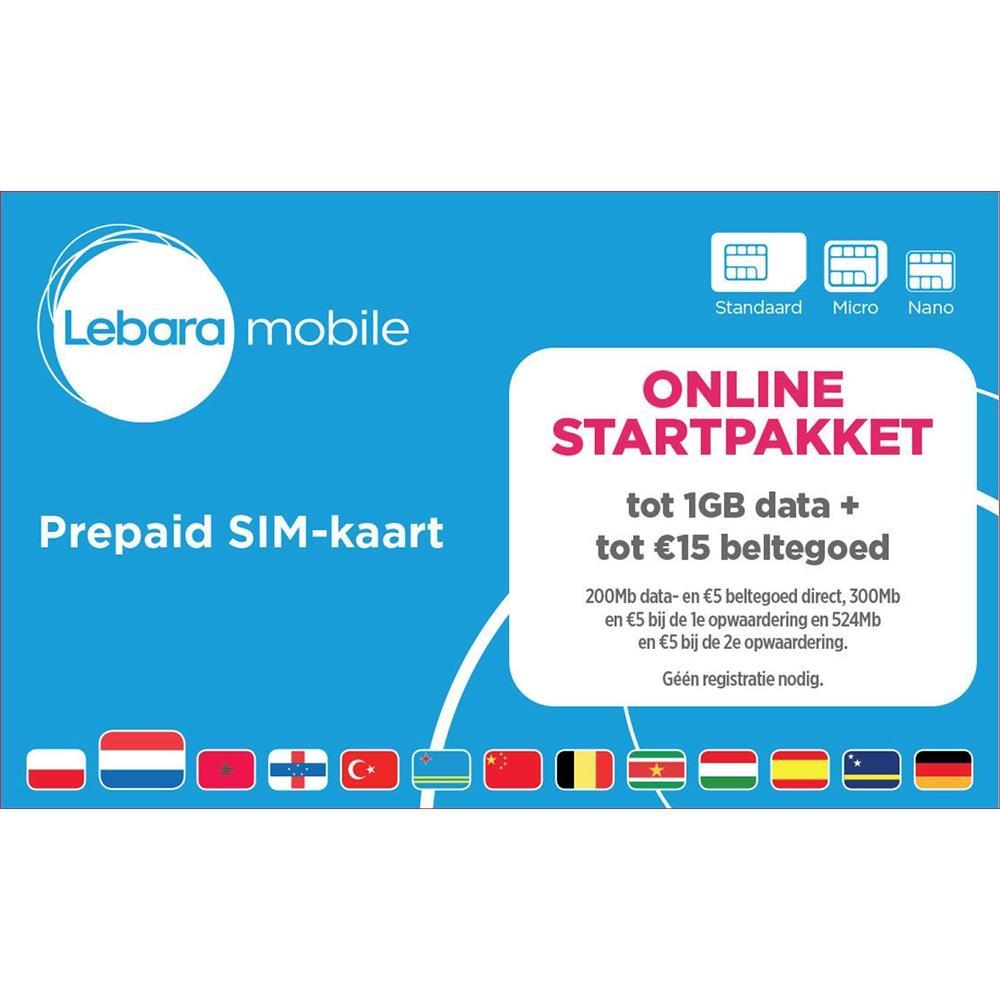 Lebara Online Simkaart Startpakket