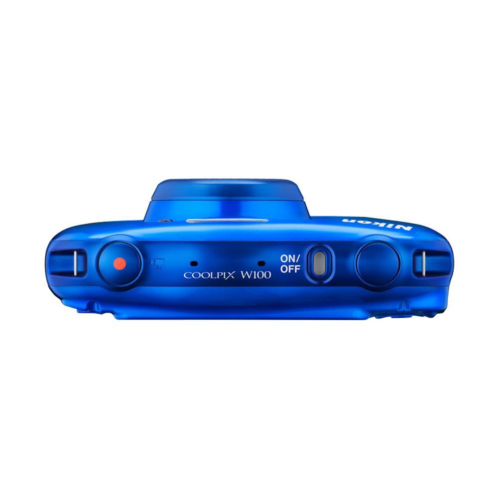 Nikon compact camera Coolpix W100 (blauw)