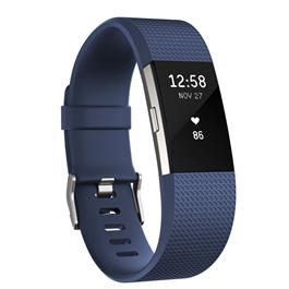 Fitbit Charge 2 Blue-Silver S