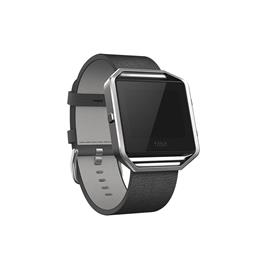 Fitbit Blaze Polsband Leather Black - L