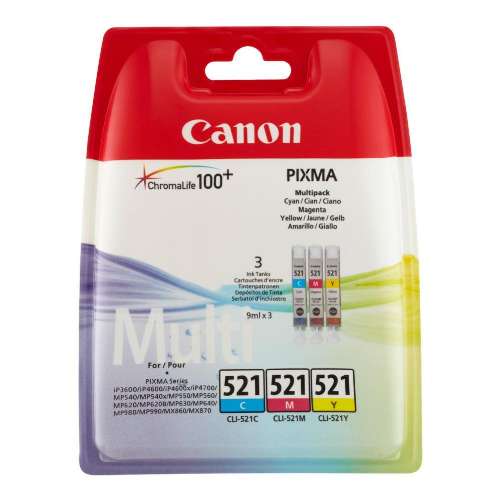 Canon cartridge voordeelpak CLI-521 3CL