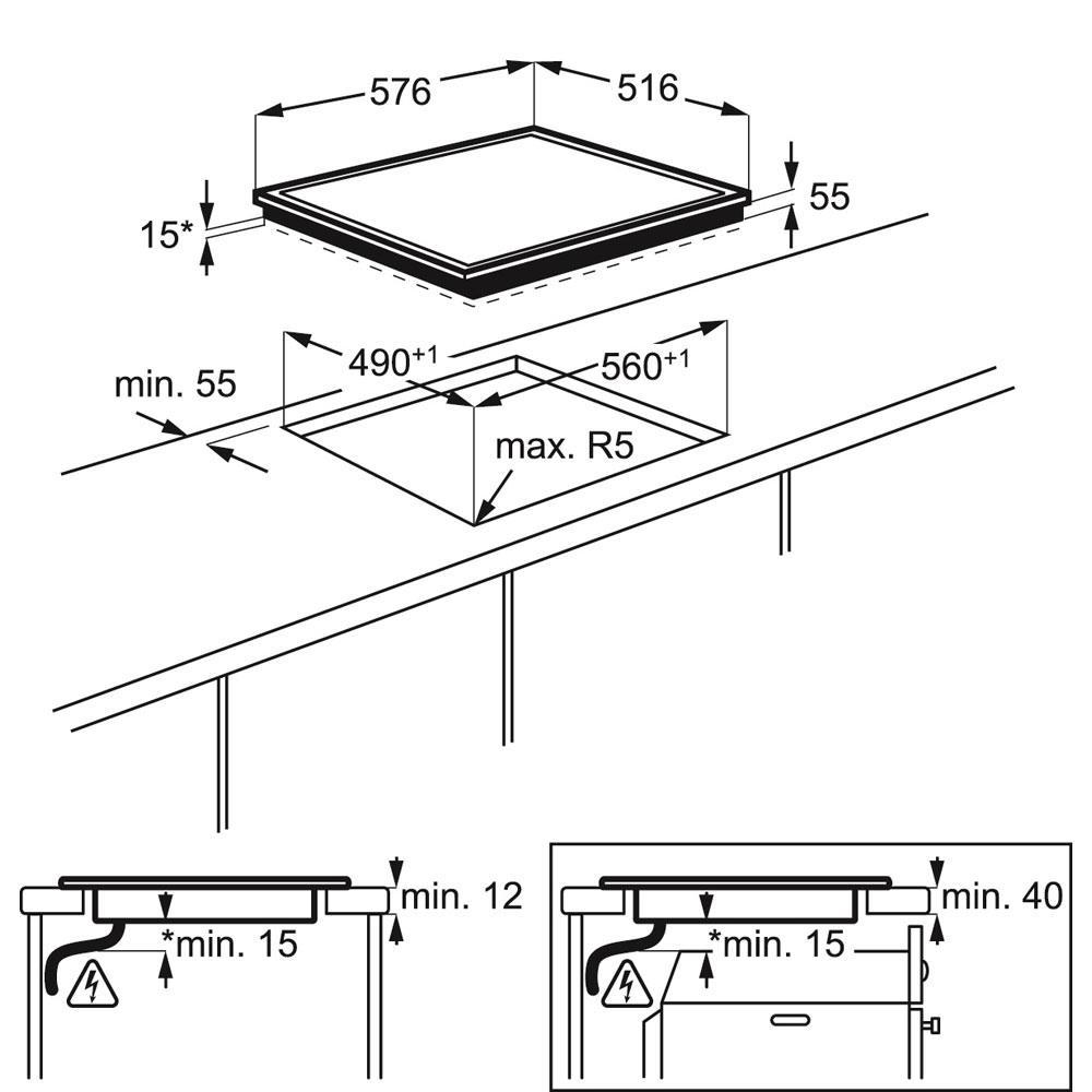 AEG inductiekookplaat (inbouw) HK634200XB
