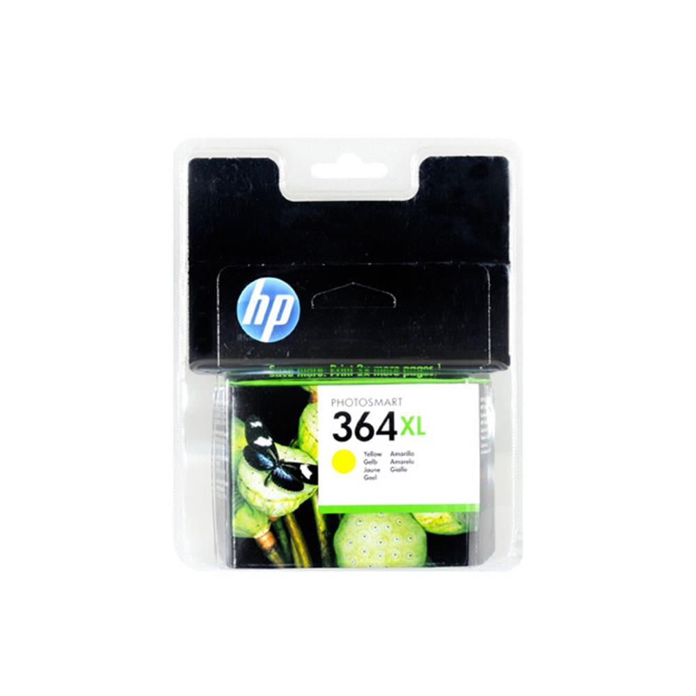 hp xl cartridge 364 xl y geel accessoires inkt cartridge. Black Bedroom Furniture Sets. Home Design Ideas