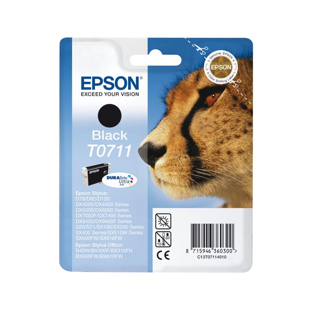Epson cartridge T0711 BK (zwart)