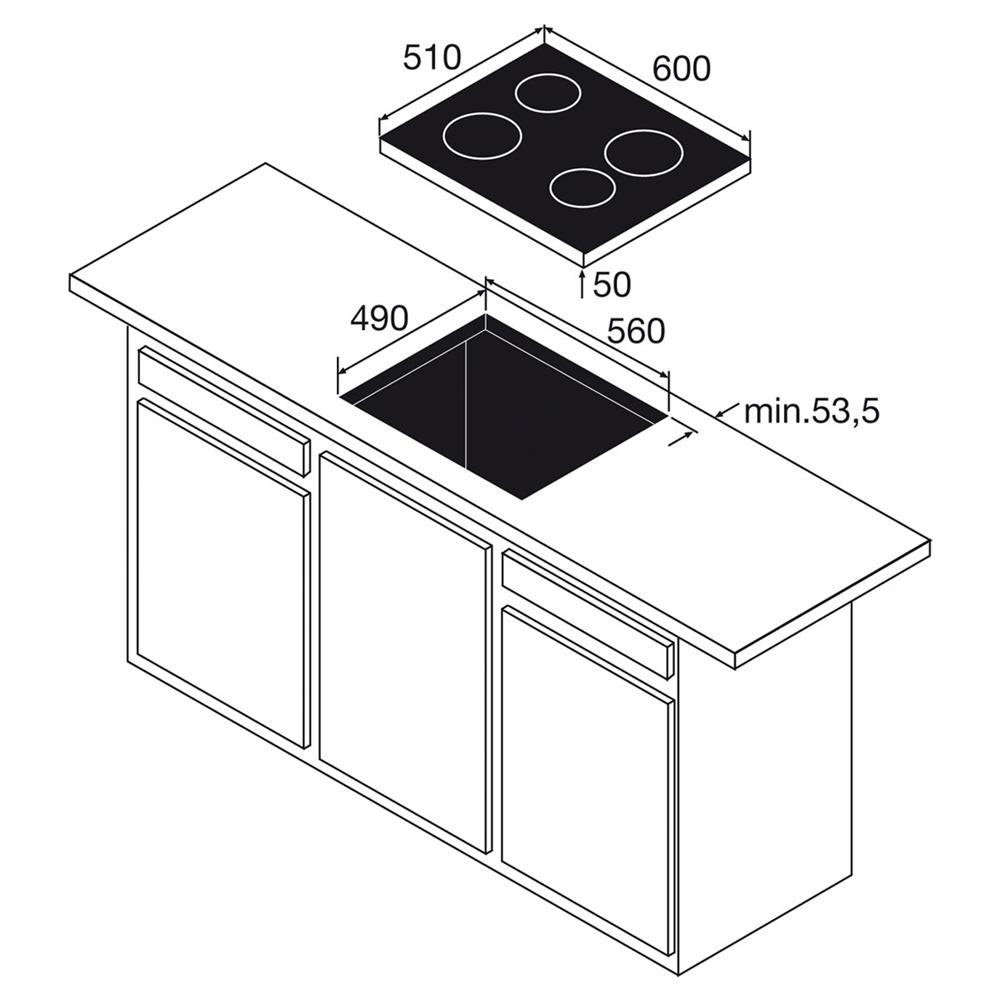 Etna keramische kookplaat T267ZT