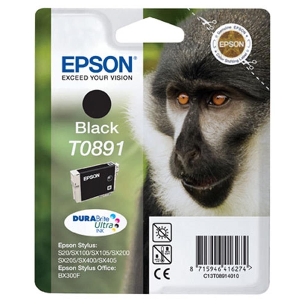 Epson cartridge T0891 BK (zwart)