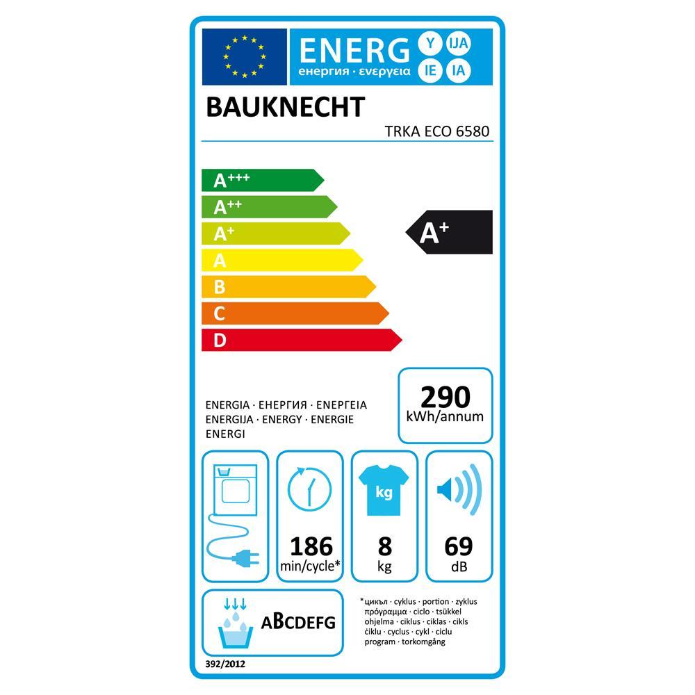 Bauknecht wasdroger TRKAEC6580