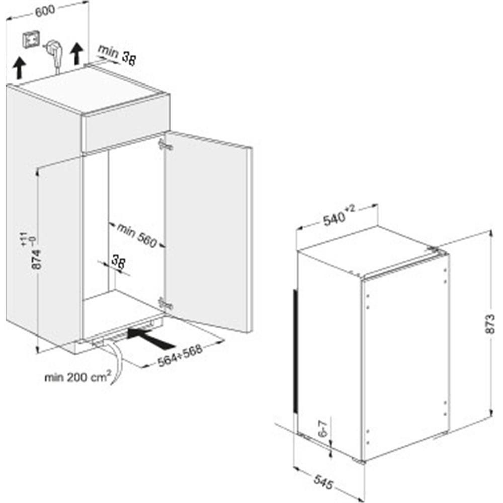 Whirlpool koelkast (inbouw) ARG451/A+