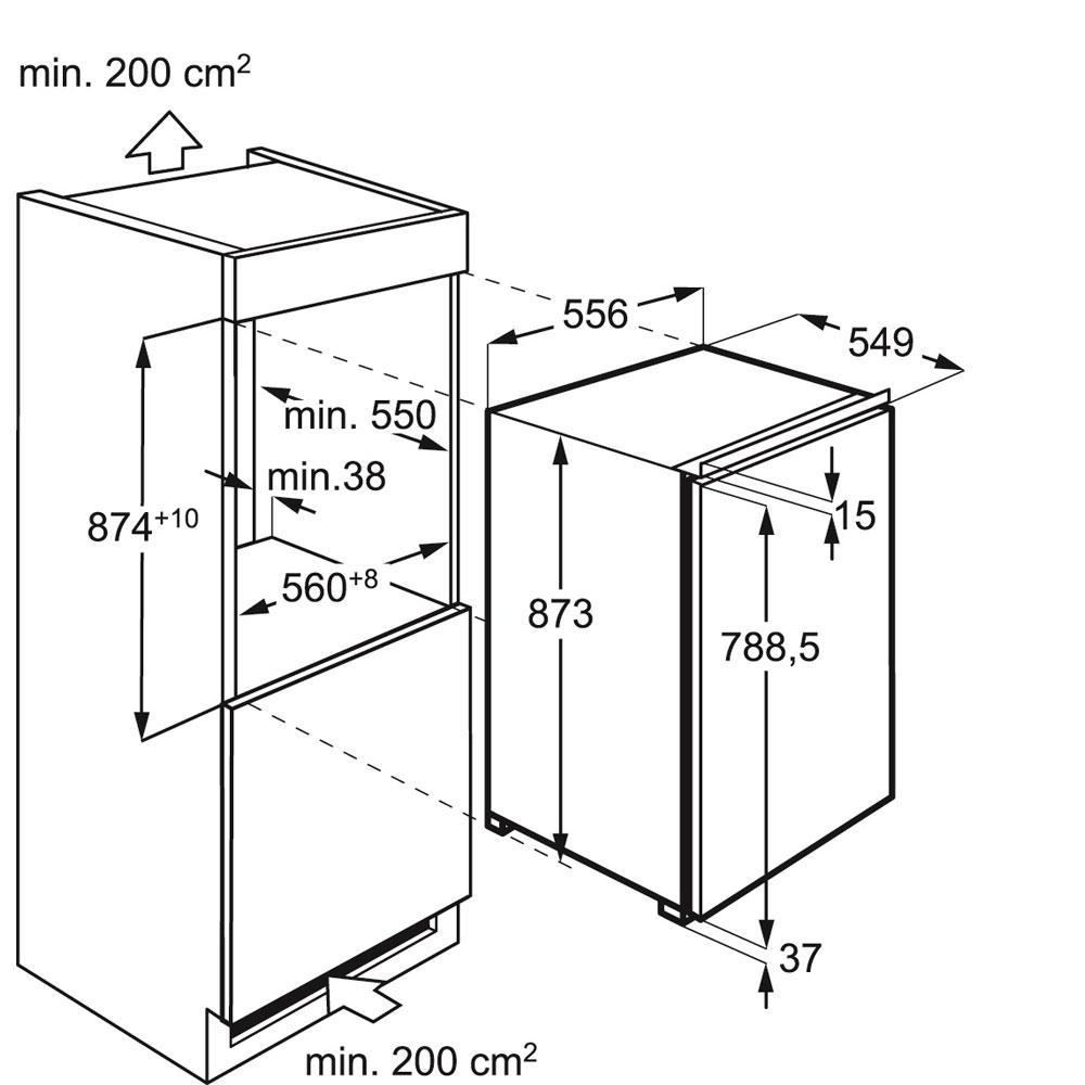 AEG koelkast (inbouw) SKS68800F1