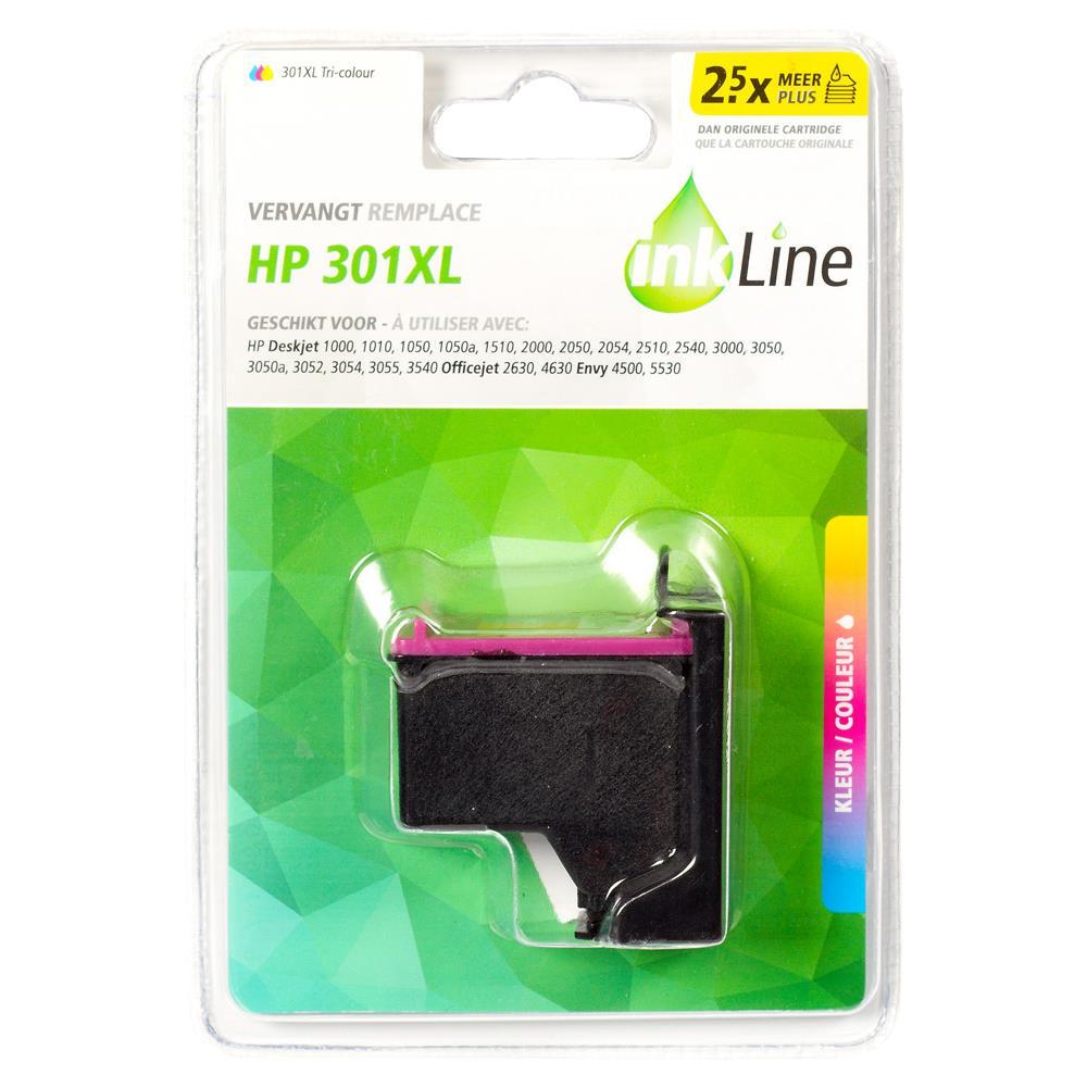 Inkline voordeelpak INH301CMY (kleur) voor HP 301 serie