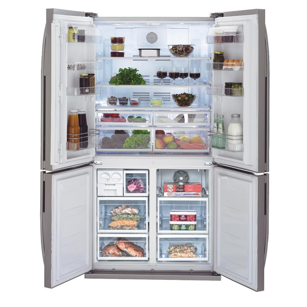 Keuken Met Amerikaanse Koelkast : Beko Amerikaanse koelkast GNE114612X kopen bcc.nl